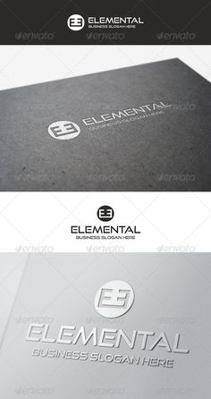 Elemental Logo Brand — Vector EPS #high tech #corporate • Download here → https://graphicriver.net/item/elemental-logo-brand/5594727?ref=pxcr