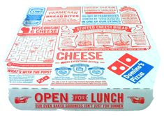 anyone know what typefaces are being used on this packaging? Ethan Sherman: Domino's Pizza Packaging