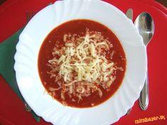 blesková paradajková polievka s cesnakom a bazalkou Russian Recipes, Chili, Soup, Cooking, Polish, Kitchen, Vitreous Enamel, Chile, Soups