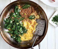 Greens and Grains Scramble Recipe | Epicurious.com