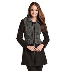 Guess Single-Breasted Wool Blend Colorblocked Walker Coat at www.bonton.com Single Breasted, Coats For Women, Wool Blend, Bomber Jacket, Leather Jacket, Zip, My Style, Women's Coats, Sweaters