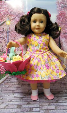 American girl doll clothes Tulip Garden  Easter by TheDollyDama