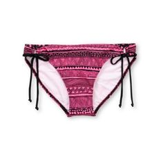 Glamour Kills Pink Tribal Tunnel Side Bikini Bottom ($25) ❤ liked on Polyvore featuring swimwear, bikinis, bikini bottoms, swim wear, swim suits, pink bikini bottoms, tribal print bikini, pink bathing suits, pink bikini and tribal bikinis