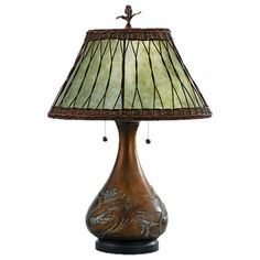 Bronzed & Soft Green Quoizel Highland Table Lamp from the Look of Fall event at Joss and Main!
