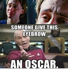 This eyebrow does some awesome acting. As does Leonardo DiCaprio. GIVE THEM BOTH AN OSCAR ALREADY