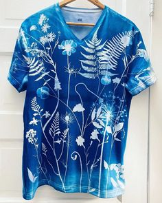 Julia Whitney Barnes is using #JacquardCyanotype to create the most beautiful sun-printed garments. How stunning are these botanical designs! Cyanotype, Most Beautiful, Tie Dye, Cover Up, Sun, Printed, Create, Tops, Dresses