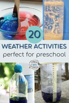 Snow and ice and all sorts of weather activities for preschool! These are simple science experiments and demonstrations that are simple enough for 3 year olds and awesome enough for kids of all ages. Learning about the weather has never been as easy. Weather Activities Preschool, Weather Science, Kids Learning Activities, Creative Activities, Educational Activities, Fun Learning, Toddler Activities, Preschool Activities, Activities For 6 Year Olds