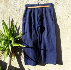 Authentic 60s French work trousers ultra baggy high by InkaTinker