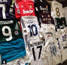 The Madrid jerseys!