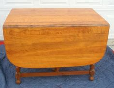 ETHAN ALLEN MAPLE WOOD GATE LEG DINING TABLE in Antiques, Furniture, Tables, Post-1950 | eBay
