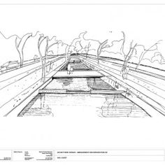 Bottière Chênaie Eco-district   Atelier des Paysages Bruel-Delmar  Wonderful hand draw perspective.