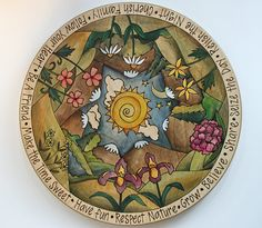 Mountains & Iris Lazy Susan