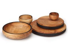 Boards and Bowls in English Olive Ash