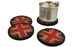 Flox 'UK Flags' Rubber Coasters