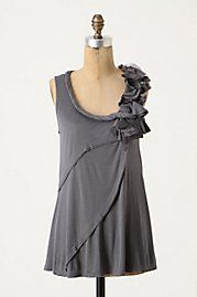 not crazy about the detail on the shoulder, but love the draped front and twisted neckline trim.