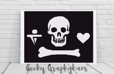 Stede Bonnet Pirate Flag Crochet Graphghan Pattern