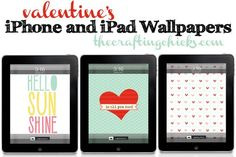 Cute and fun iPhone and iPad wallpapers for Valentine's | http://phonewallpaperideas.blogspot.com