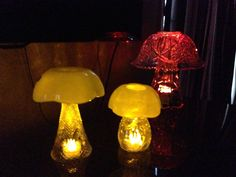 Luv my mushrooms! Great yard art or centerpieces!