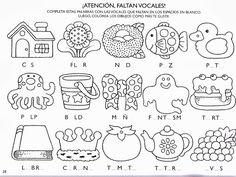 Archivo de álbumes Spanish Worksheets, Letter Worksheets, Secret Code, Preschool Themes, Felt Flowers, Easy Drawings, Phonics, Sally, Teaching Resources