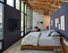 contemporary bedroom by Bruns Architecture, Madison WI