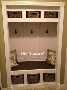closet turned storage bench