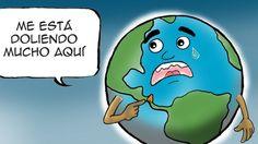 El planeta, sus reacciones, sus hijos, sus dolores, en las caricaturas de Siul