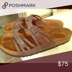 Birkenstock Grenada. Gray/brown color. Worn about 3 times.  Smoke-free, pet-free home! Birkenstock Shoes Sandals