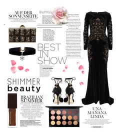 """""""Queen of the night"""" by lord-of-fashion ❤ liked on Polyvore featuring Judith Leiber, Zuhair Murad, Kevyn Aucoin, MAC Cosmetics, Dolce&Gabbana, Glamour, inspiration and golden"""