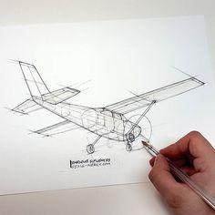 Cessna 182. #sketch #sketcheveryday  #ballpointpen #cessna #cessna182 #aircraft #fly #airplane #small #quick #engineering @cessna #ballpointpen @kikesif @textronaviation