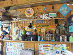To have my own tiki bar! Backyard Beach, Florida Design, Beach Bars, City Beach, Florida Home, Perfect Party, Favorite Color, Red And White, Tiki Bars