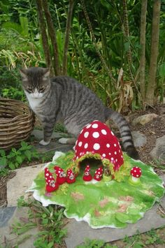 Felted Toadstool Gnome Family - by ByWayOfNature on madeit  LOVE this!!!