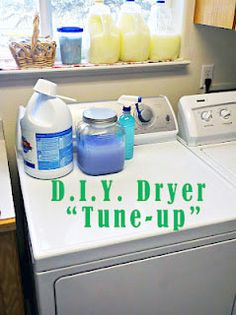 dryer tune up - really important.