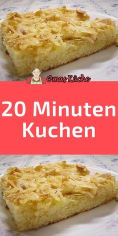 20 Minuten Kuchen Dessert Recipes, Desserts, Cornbread, Vanilla Cake, Food And Drink, Pie, Sweets, Gluten, Cooking