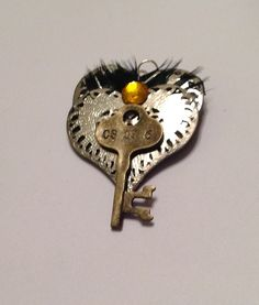 Heart shaped steampunk inspired brooch by Priscilla's Emporium on Etsy Sculpture Art, Heart Shapes, Steampunk, My Etsy Shop, Hearts, Brooch, Inspired, Inspiration, Jewelry