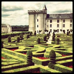 Don't get lost at the Chateau de Villandry in Loire, #France.    Photo courtesy of @annwriedt on Instagram.