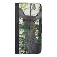 Forest Deer Photo iPhone 6/6s Plus Wallet Case - animal gift ideas animals and pets diy customize