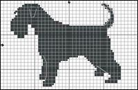 Miniature Schnauzer Dog, Black and Silver Free Cross Stitch / Knitting Pattern Cross Stitch Charts, Cross Stitch Embroidery, Cross Stitch Patterns, Clay Pot Crafts, Dog Crafts, Knitting Charts, Knitting Patterns, Miniature Schnauzer, Schnauzer Dogs