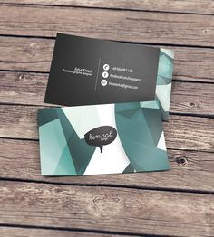 kinast design business cards