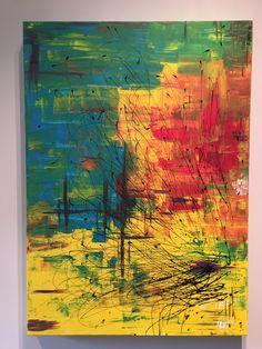 Quadro astratto. Dipinto originale astratto. Quadro moderno. Colori acrilici su tela. Quadro design. di Criatelier su Etsy