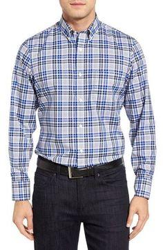 Smartcare™ Regular Fit Plaid Sport Shirt (Tall)