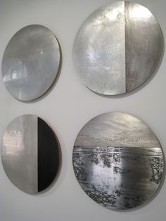 Rebecca Gouldson's wall mounted metal pieces