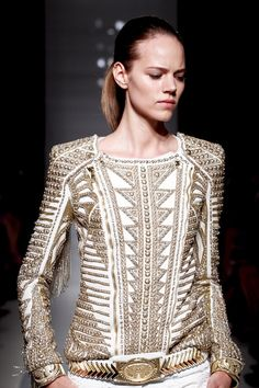 Balmain, SS, 2012.  I will own one of these jackets one day.