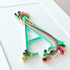 Trend Report: Contemporary Paper Quilling - Craft Industry Alliance paper crafts and paper flowers Arte Quilling, Quilling Letters, Quilling Paper Craft, Paper Letters, Quilling Comb, Alphabet Letters, Paper Crafting, Quilled Paper Art, Paper Quilling Designs