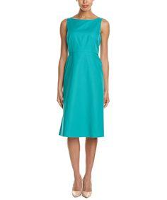 Lafayette 148 New York Dora Linen-Blend A-Line Dress