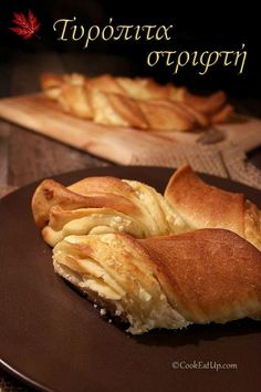 Greek Recipes, Pie Recipes, Cooking Recipes, Recipies, Greek Pastries, Greek Cooking, Savoury Baking, Food For Thought, Hot Dog Buns