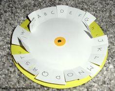 ruota per imparare le lettere minuscole e maiuscole