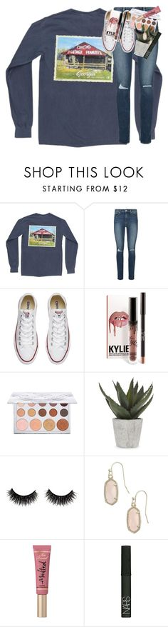 """""""me, myself, & i solo ride until i die"""" by classynsouthern ❤ liked on Polyvore featuring Paige Denim, Converse, Abigail Ahern, Kendra Scott, Too Faced Cosmetics and NARS Cosmetics"""