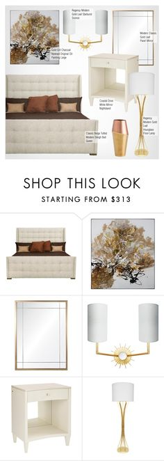 """Bedroom Decor"" by kathykuohome ❤ liked on Polyvore featuring interior, interiors, interior design, home, home decor, interior decorating, Ciel, bedroom, modern and Home"