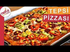 Ekmek Hamurundan Tepsi Pizzası (Videolu) - Nefis Yemek Tarifleri