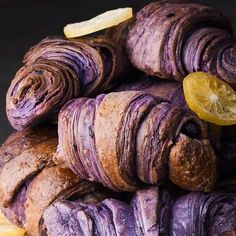 Violet, You're Turning Violet! Check out These Beautiful, Naturally Purple, Blueberry Croissants | So Yummy